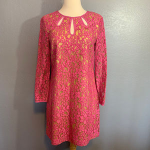 Juicy Couture Pink Lace Formal Weding Sheath Dress
